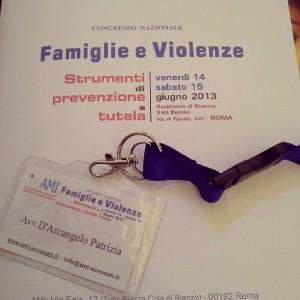 L'avv. Patrizia D'Arcangelo al Congresso Nazionale Associazione Matrimonialisti italiani 2013